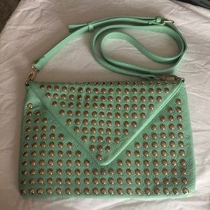 JustFab studded crossbody bag mint Moxie